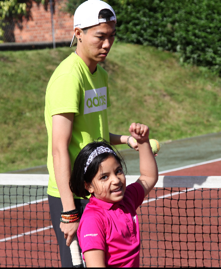 Mini tennis coaching at Activeace Arena